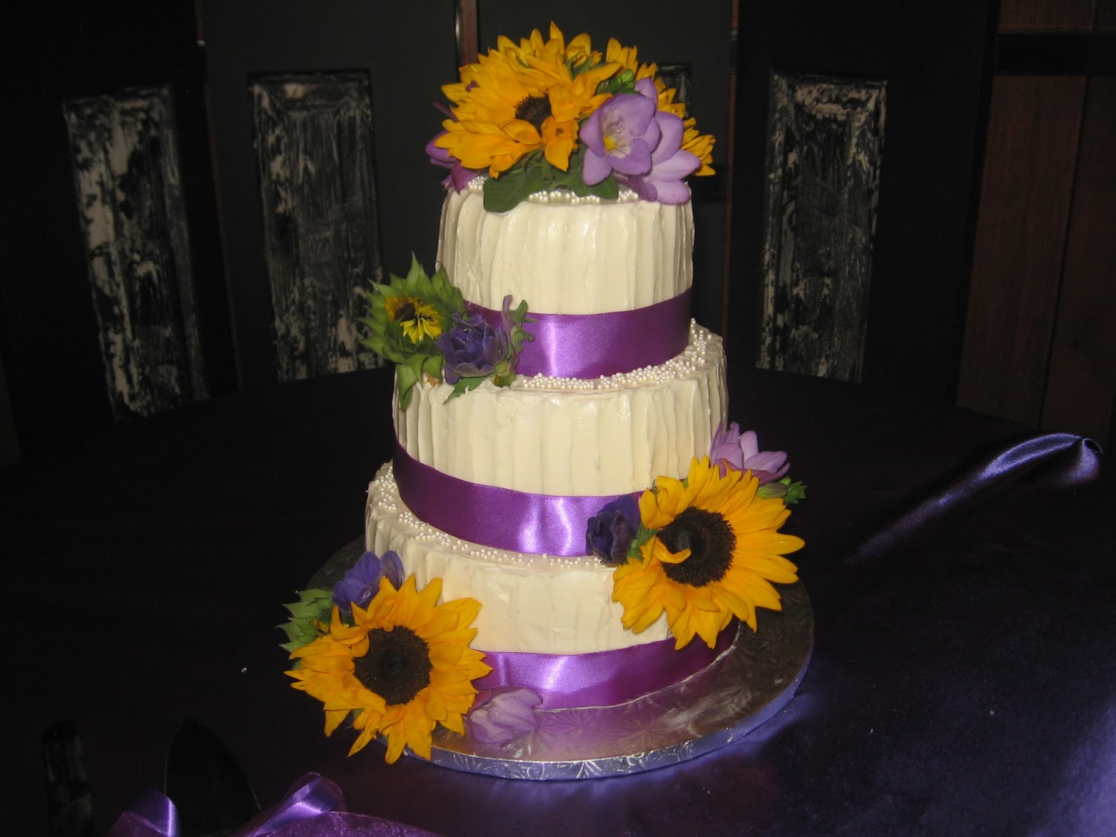 Sweets to the Sweet Sunflower Wedding Cake