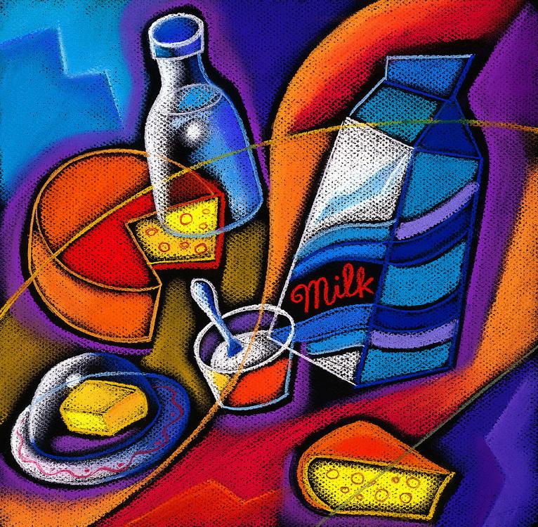 Cuadros modernos pinturas y dibujos bodegones coloridos - Cuadros decorativos para cocina abstractos modernos ...