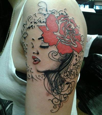Tattoos collection online samurai tattoos for la girls for Female samurai tattoo