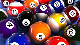 Shining 3D Billiard Balls High Definition Desktop Wallpaper