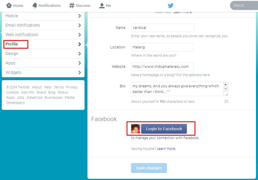 Membuat Tweet Otomatis Posting di Facebook 2