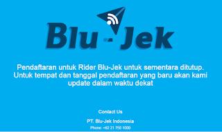 Pendaftar Blu-Jek,cara daftar,Pengemudi Blu Jek,TopJek,Layanan Ojek Blu-Jek,PT. Blu-Jek Indonesia,www.blu-jek.com,