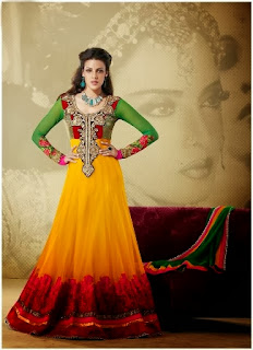 Latest Embroidered Churidar Suits