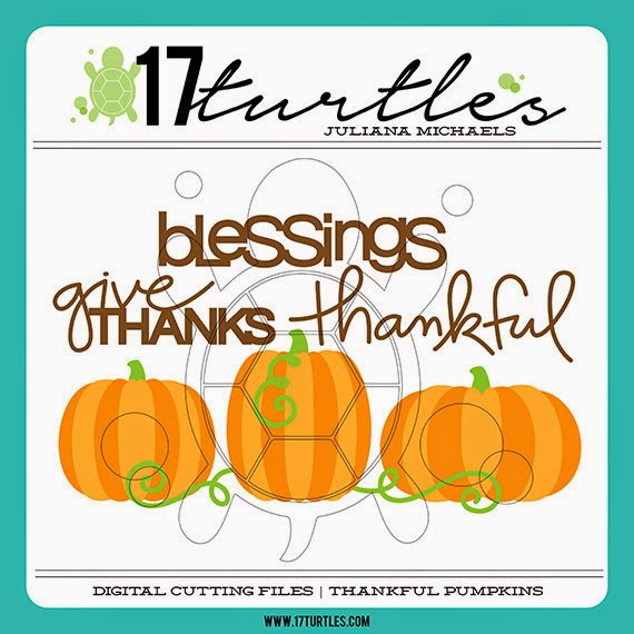 Thankful Pumpkins Digital Cut File by 17turtles Digital Cut Files Etsy Shop Juliana Michaels