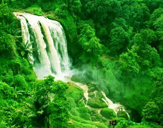 The Green Curug Sewu Waterfall