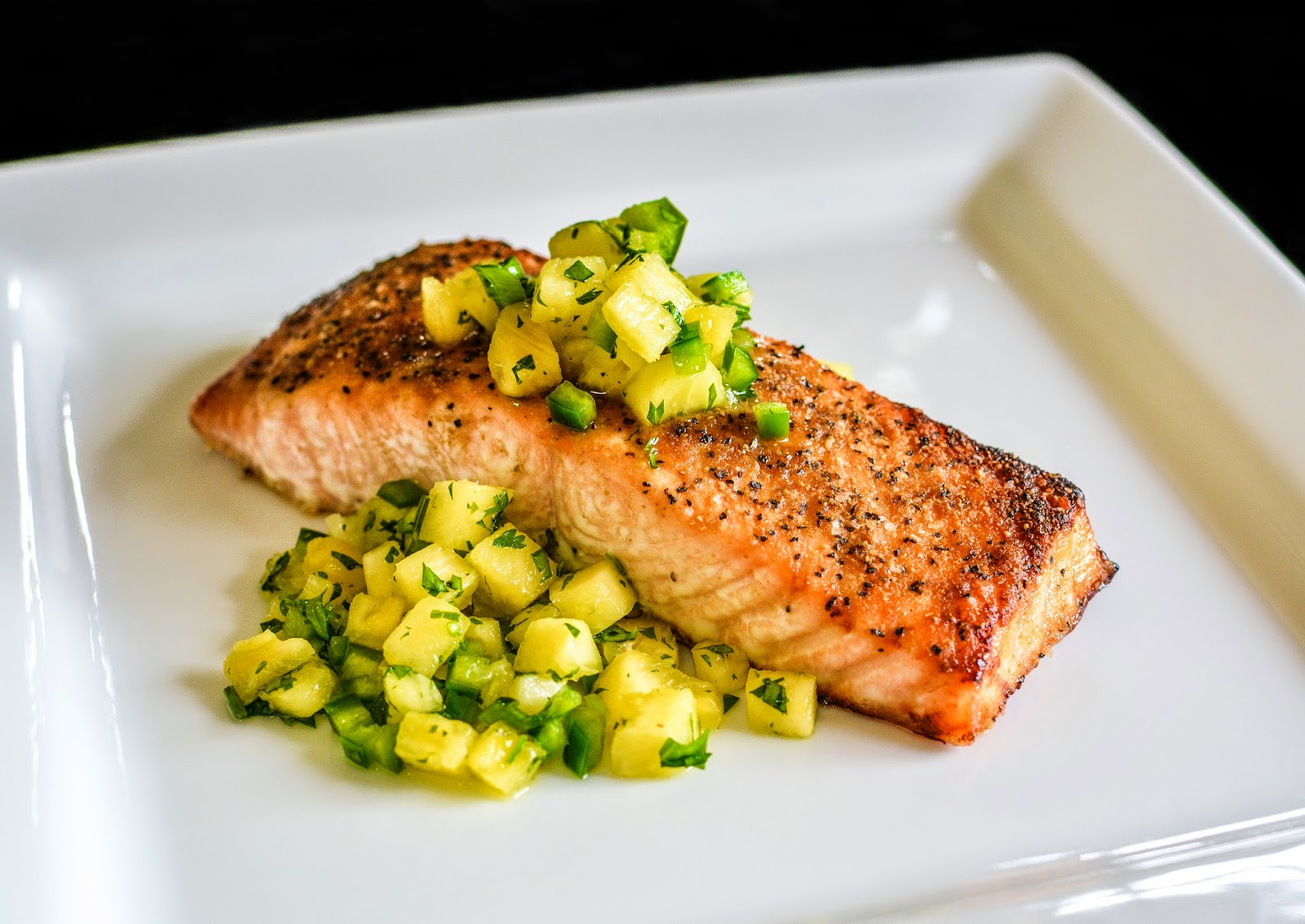 All food considered broiled salmon with pineapple salsa broiled salmon with pineapple salsa ccuart Choice Image