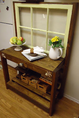 1950s Window Table with Vintage Hardware-SOLD