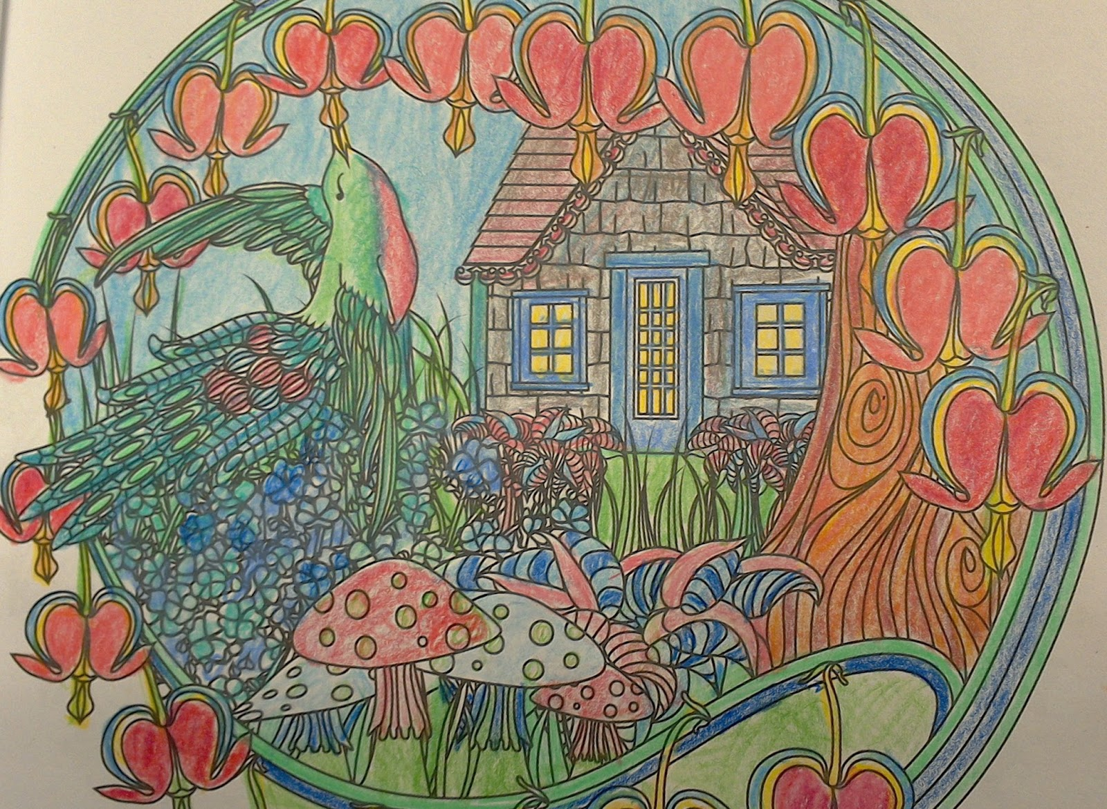 Adult Coloring Books Allow For A Surprising Range Of Creative Responses You Decide What Materials To Use Crayons Markers Colored Pencils