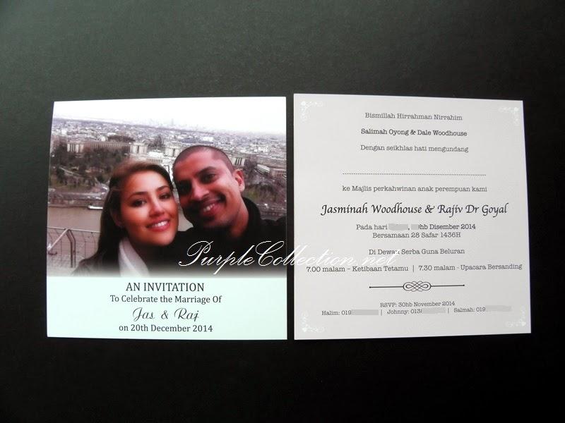 Photo Wedding Invitation Card, Malaysia, Printing, personalised, personalized, custom made, design, new, modern, special, unique, flat card, cetak, kad kahwin, kuala lumpur, sabah, sarawak, selangor, perak, ipoh, penang, melaka, johor, singapore, terengganu, kedah, perlis, kelantan