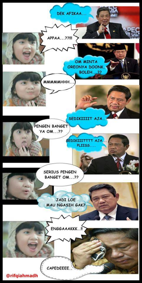 Foto Afika vs SBY, Afika oreo, afika vs sby, afika imut