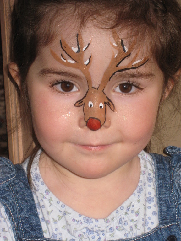 Christmas Face Painting Ideas Images amp Pictures Becuo