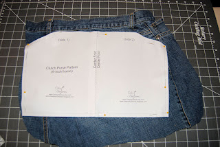 Denim jeans folded