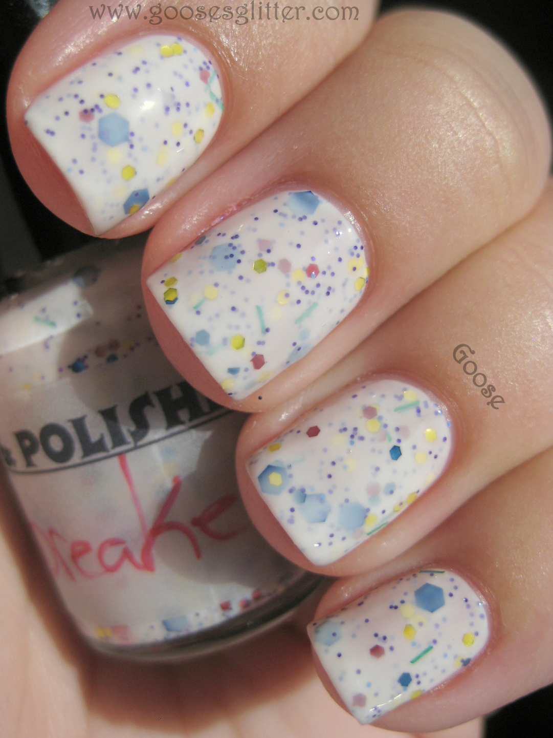 Goose\'s Glitter: Pretty & Polished - Jawbreaker: Swatches and Review
