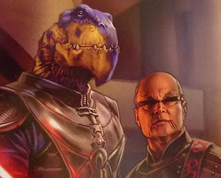 Jedi masters, human and reptile