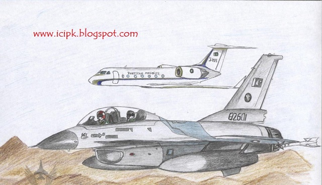 Pakistan Air Force Jet Drawing