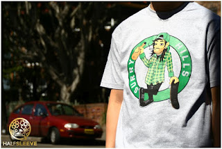 boston celtics, surry hills, halfsleeve