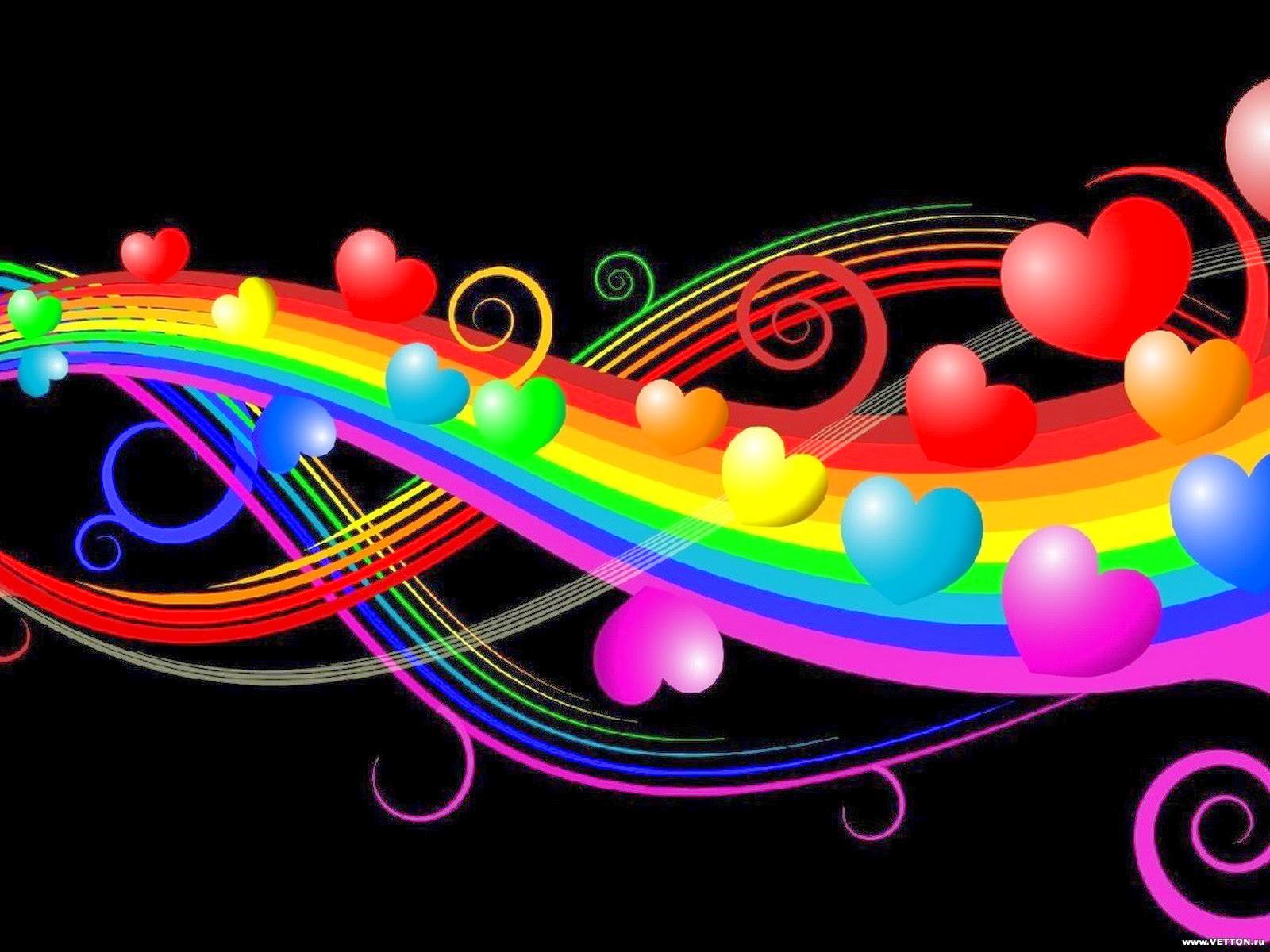 Love Colorful Desktop Wallpapers HD Wallpaper