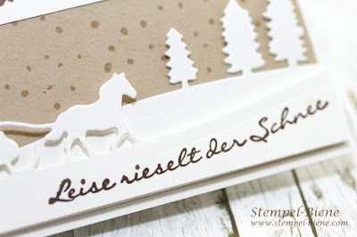 Namensschilder Weihnachtsworkshop, namensschild stampin up, weihnachtsworkshop stampin up, schlittenfahrt stampin up, pferdekutsche stampin up, pferdestanze stampin up, stempel-biene, stampin up bestellen