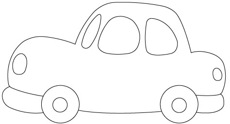Massif image within car template printable