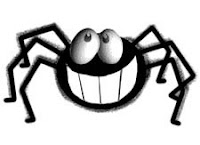 A cartoon spider