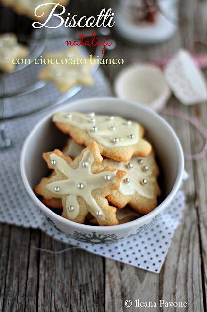 idee regalo: biscotti natalizi con cioccolato bianco