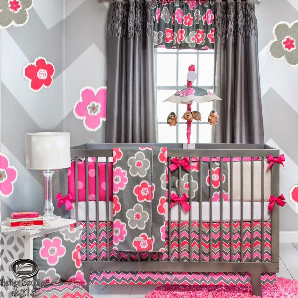 desain tempat tidur bayi perempuan