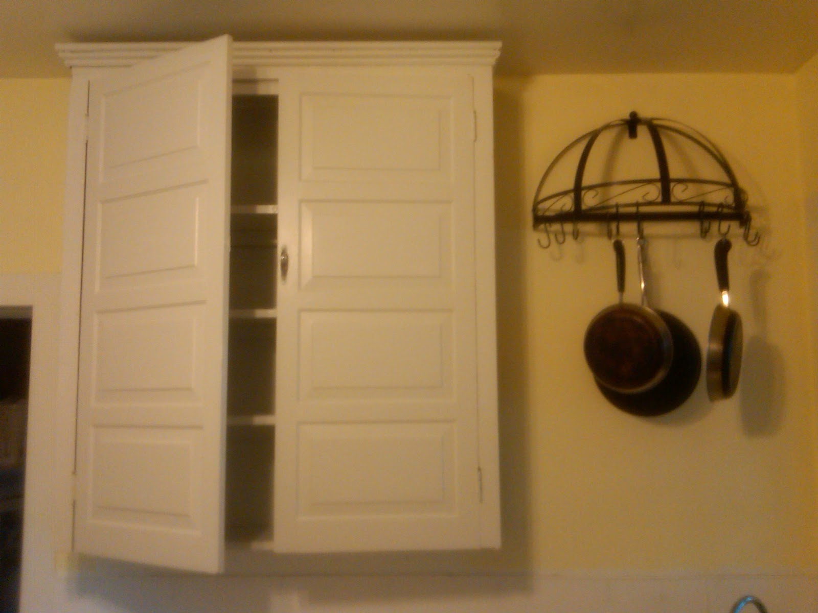 Cabinet pot rack 28 images diy pot rack the house we pull out pot rack pan organizer 2 tier - Cabinet pull out pot rack ...