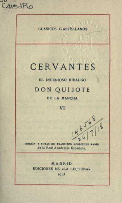 Don Quijote tomo VI
