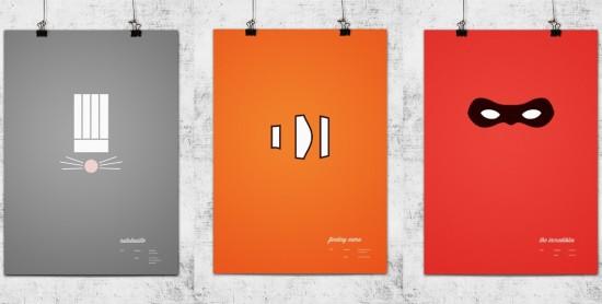 Minimalistic designs Pixar