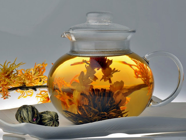 La flor de té, blooming tea