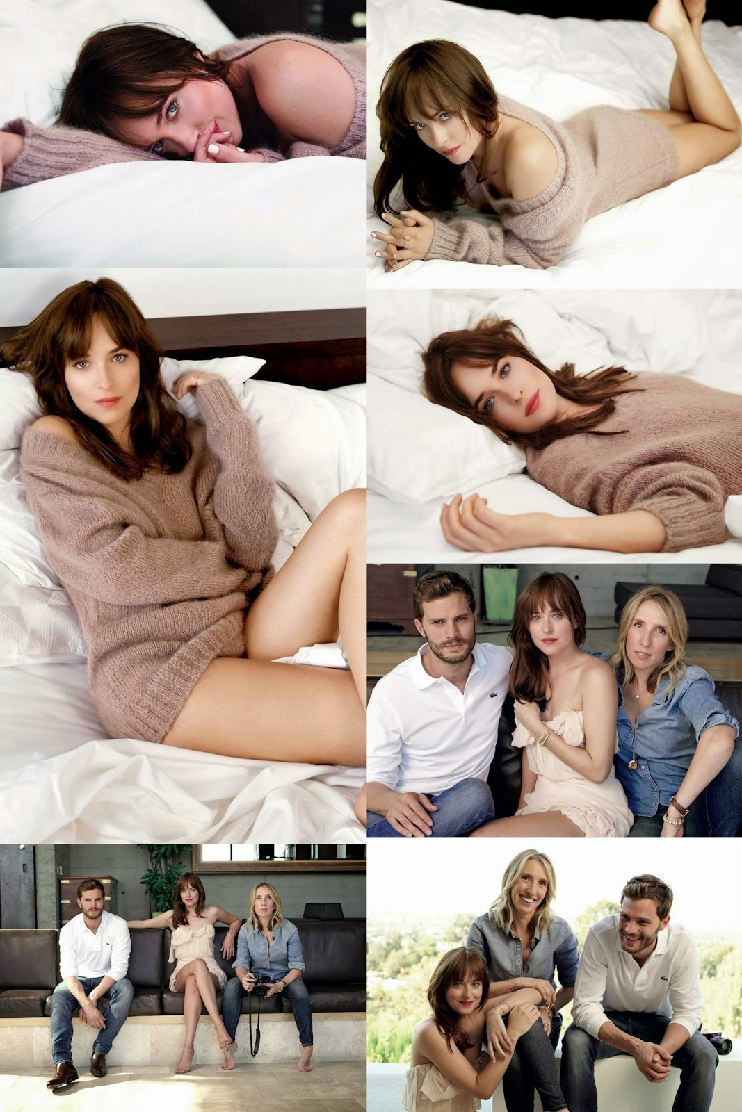 Dakota Johnson Fifty Shades of Grey Promo Shoot