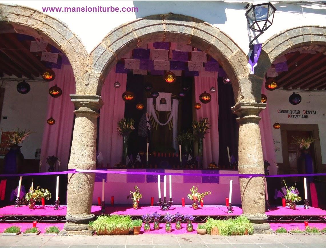 Altar de Dolores en Patzcuaro Michoacan