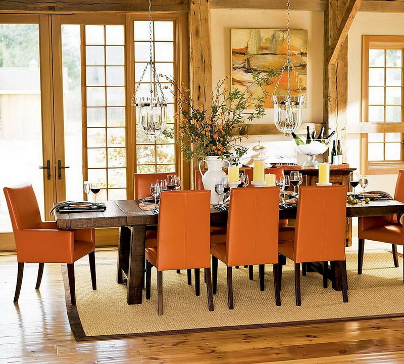 Great tips for decorating your dining room interior for Decorating ideas for large dining room wall
