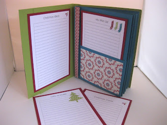 Stampin&#39; Up! Christmas Holiday Planner Tutorial