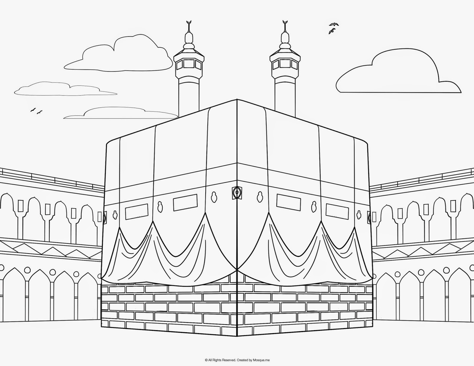 religious mosque kabah coloring pages. Black Bedroom Furniture Sets. Home Design Ideas