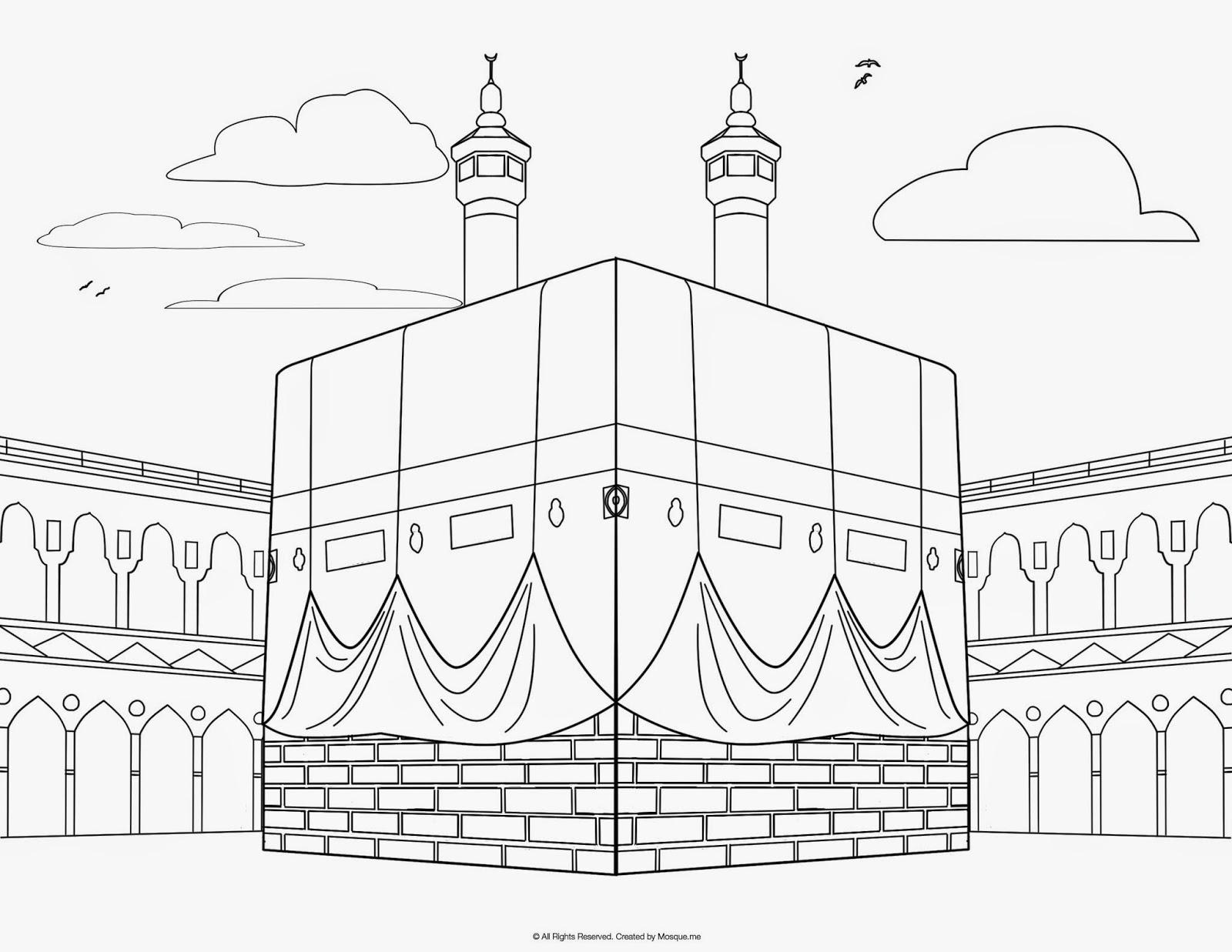 Mewarnai line Kabah