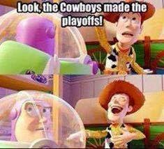 look, the cowboys made the playoffs!. #cowboys #playoff