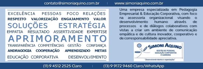 CONSULTORIA SIMONI AQUINO ǀ Gestão de Pessoas, Treinamentos, Palestras e Carreira
