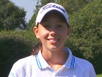 Beatriz Mosquera Quintas vencedora absoluta de la primera prueba del Circutio + de golf de Pitch & Putt que se celebró en el Miño Club de Golf. - Beatriz%2BMosquera