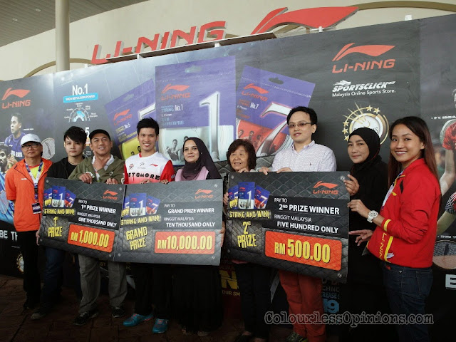 li-ning malaysia string & win contest winners genting group photo