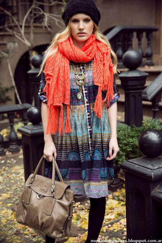 India Style otoño invierno 2014 vestidos casuales de moda invierno 2014.