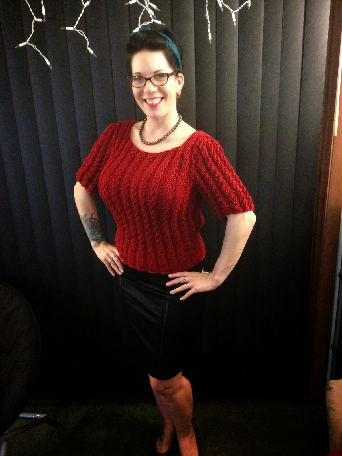 40's sweater - She Knits in Pearls