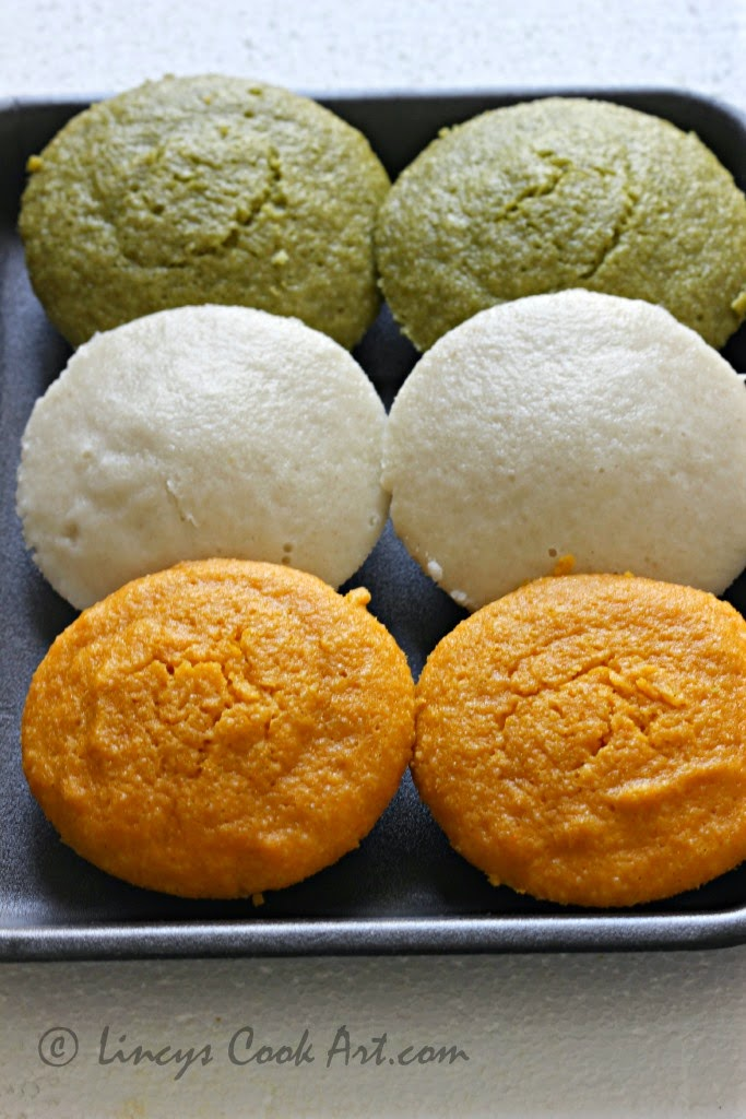 Colourful Idlis