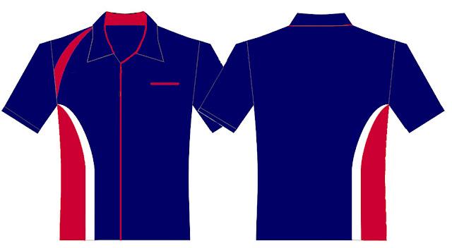Desain Kemeja Warna Biru Tua Polos