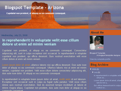 New Blogger Template: Arizona