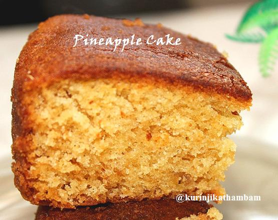 Eggless Pineapple Cake With Condensed Milk Kurinji Kathambam