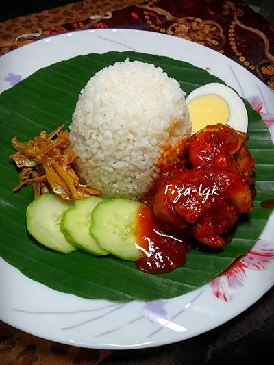 Nasi Lemak Sambal Ayam Fiza S Cooking