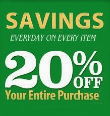 Sign up to Save 20% everyday!