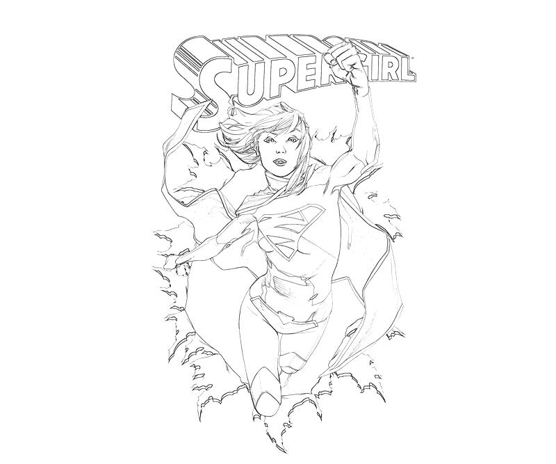 Supergirl supergirl cover how coloring for Supergirl coloring page