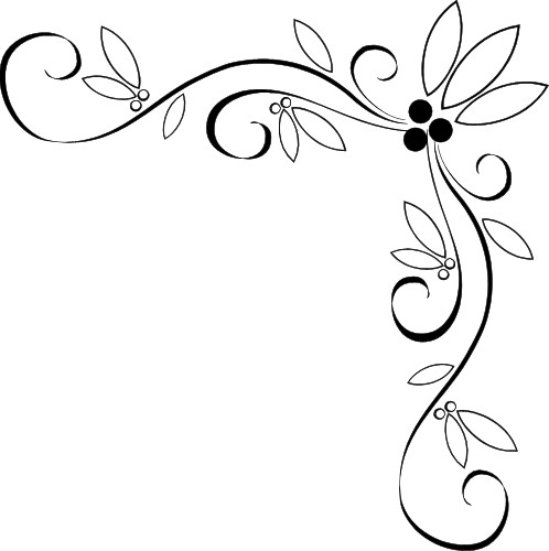 Great for wedding invitations and the like Fancy vine corner border design